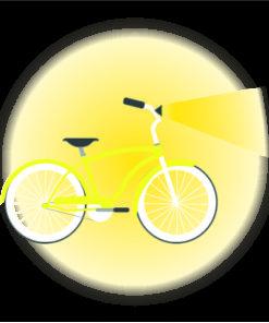 Cykellyse för säker cykling